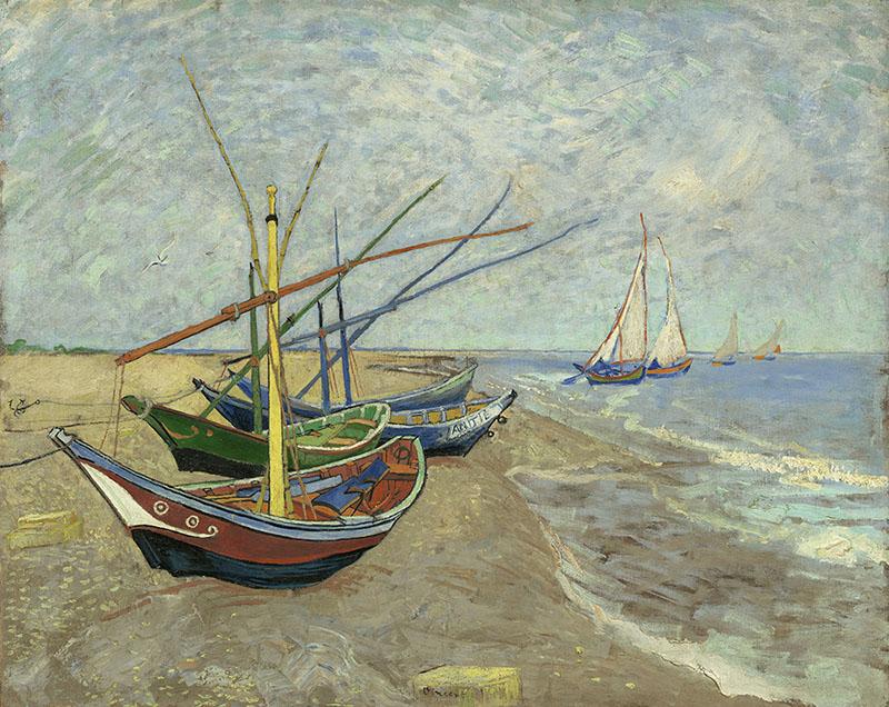Vincent-van-Gogh-Vissersboten-op-het-strand-van-Les-Saintes-Maries-de-la-Mer-V006